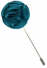 Lapel Rose . Blue Coral