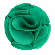 Lapel Rose . Solid Aqua Green