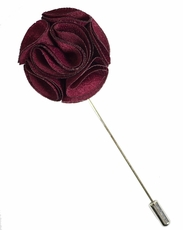 Lapel Rose . Solid Burgundy