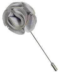 Lapel Rose . Solid Grey