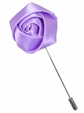 Lapel Rose . Solid Lite Violet