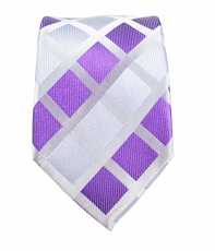 Lavender Slim Silk Necktie by Paul Malone