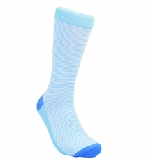 Light Blue Striped Cotton Socks by Paul Malone