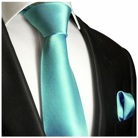 Moonlight Jade Necktie and Pocket Square