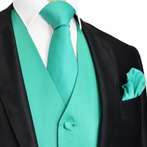 Marine Green Tuxedo Vest and Accessories