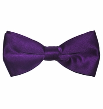 Men's Bow Tie . Pretied . Solid Purple (BT10-U)