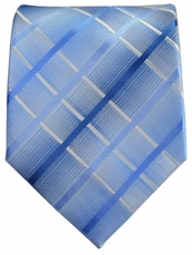 Men's Necktie . Blue Plaids