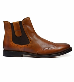 Modern Chelsea Boots with Broguing by Paul Malone