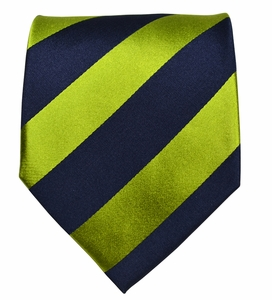 Navy & Green Paul Malone Silk Necktie (870)