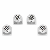 Onyx and Mother of Pearl Checker Step Studs