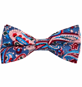 Paisley Cotton Bow Tie by Paul Malone Red Line