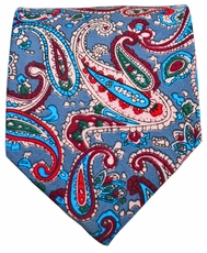 Paisley Necktie by Paul Malone Red Line . 100% Cotton