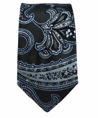 Paisley Slim Tie by Paul Malone . 100% Silk