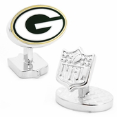 Palladium Green Bay Packers Cufflinks