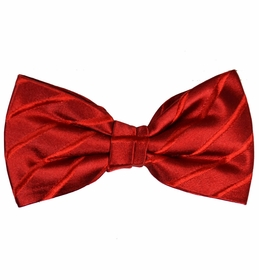 Red Bow Tie and Pocket Square Set by Paul Malone