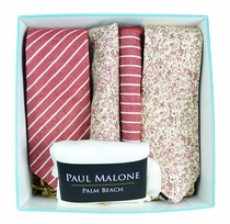 Paul Malone Cotton Ties & Socks Box - Holly Berry