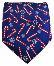 Paul Malone Holiday Necktie (Candy Cane)