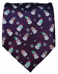 Paul Malone Holiday Theme Tie (Snowman)