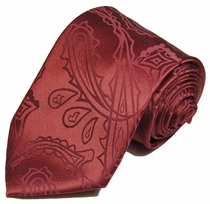 Paul Malone Neck Tie - Burgundy (P1)