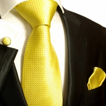 Yellow Paul Malone Silk Tie Set