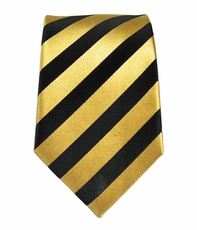 Paul Malone SLIM TIE . 2.25in. wide . 100% Silk . Black and Gold