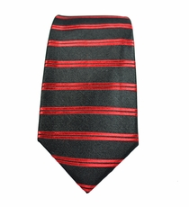 Paul Malone SLIM TIE . 2.5' wide . 100% Silk . Black & Red