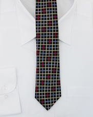 Paul Malone SLIM TIE . 2.5' wide . 100% Silk . Multicolored (Slim853)