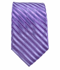 Paul Malone SLIM TIE . 2.5' wide . 100% Silk . Purple