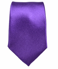 Paul Malone Necktie, 100% Silk . Solid Purple