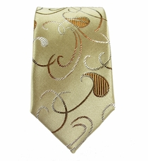 Paul Malone Slim Tie . 2.5' wide . Brown and Tan