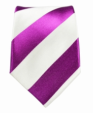 Paul Malone Slim Tie . 2.5' wide . Purple and White (Slim451)