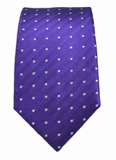 Paul Malone Slim Tie . 2.5' wide . Purple Polka Dots (Slim449)