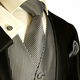 Paul Malone Tuxedo Vest and matching Accessories (V7)