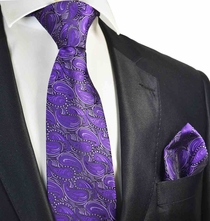 Petunia Tie and Pocket Square Set