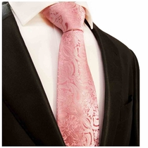 Pink Paisley Silk Men's Tie by Paul Malone