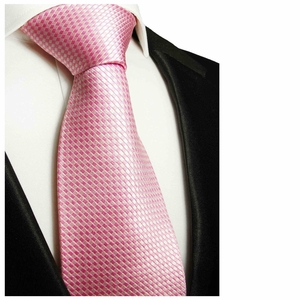 Pink Paul Malone Neck Tie, 100% Silk (501)