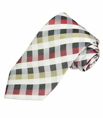 Plaid Silk Men's Tie by Paul Malone