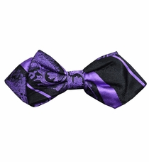Purple and Black Silk Bow Tie by Paul Malone Red Line