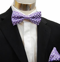 Purple Bow Tie and Pocket Square Set (BH950)