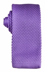 Purple Knit Tie by Paul Malone