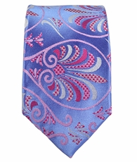 Purple Slim Silk Tie by Paul Malone