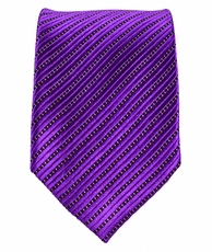 Purple Slim Tie by Paul Malone . 100% Silk