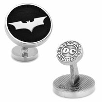 Recessed Black Batman Dark Knight Cufflinks