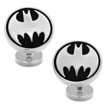 Recessed Black Vintage Batman Cufflinks
