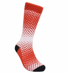 Red and White Cotton Dress Socks by Paul Malone