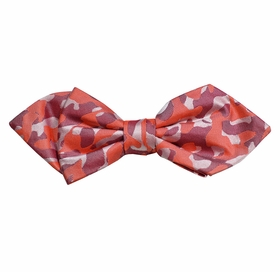 Red Camouflage Silk Bow Tie by Paul Malone Red Line