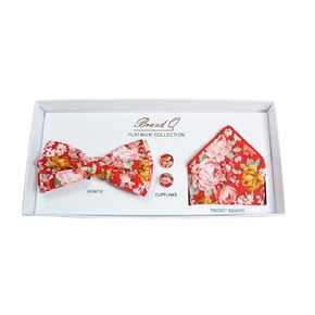 Red Floral Bow Tie Gift Box