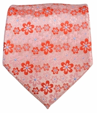 Red Floral Men's Necktie