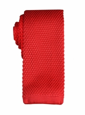 Red Knit Tie by Paul Malone