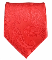 Red Paisley Mens Tie